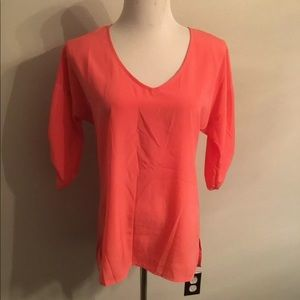 Old navy pink career top blouse